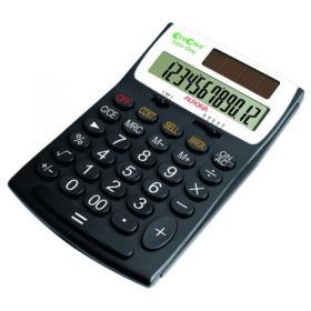 Aurora Black /White 12-Digit Desk Calculator EC505