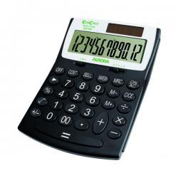 Cheap Stationery Supply of Aurora Black /White 12-Digit Desk Calculator EC707 Office Statationery