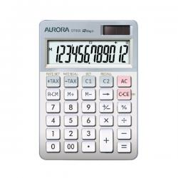 Cheap Stationery Supply of AURORA DT900 Desktop Calculator in White and Grey with currency conversion and tax feature DT900 Office Statationery