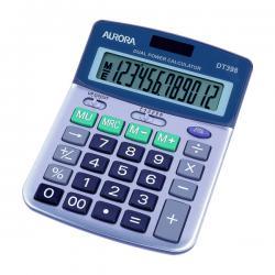 Cheap Stationery Supply of Aurora Silver/Grey 12-Digit Semi-Desk Calculator DT398 Office Statationery