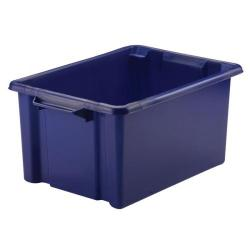 Cheap Stationery Supply of Strata Storemaster Maxi Crate 32L Blue (Stackable and easy to clean) HW046-Blue Office Statationery