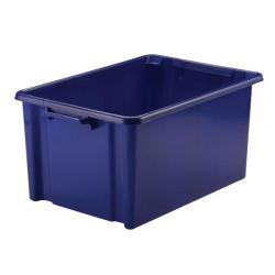 Cheap Stationery Supply of Strata 48.5L Jumbo Storemaster Box Blue HW048-Blue Office Statationery