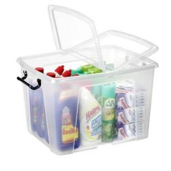 Cheap Stationery Supply of Strata Smart Box 40 Litre Clear (Exterior W395 x D500 x H320mm) HW674 Office Statationery