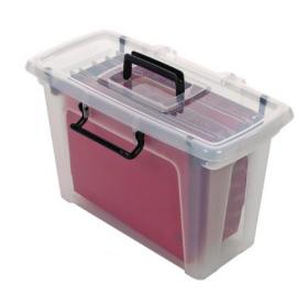 Strata Smart File Box With 5 Files Clear HW697