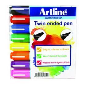 Artline 2-in-1 Flipchart Marker Assorted (Pack of 8) EK-325T-W8