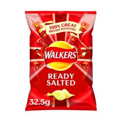 Cheap Stationery Supply of Walkers Ready Salted Crisps 32.5g (Pack of 32) 121797 Office Statationery