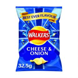 Cheap Stationery Supply of Walkers Cheese and Onion Crisps 32.5g (Pack of 32) 121796 Office Statationery