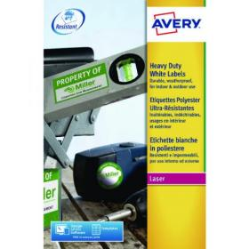 Avery Laser Label Heavy Duty 14 Per Sheet White (Pack of 280) L7063-20