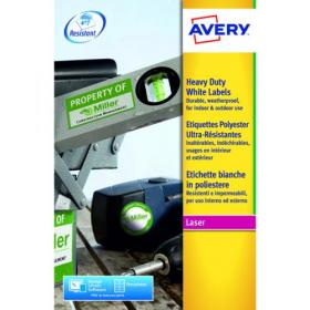 Avery Laser Label Heavy Duty 2 Per Sheet White (Pack of 40) L7068-20