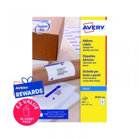 Avery Inkj Label 99.1x67.7mm 8 Per Sheet White (Pack of 800) J8165-100