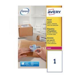 Avery Ultragrip Laser Labels 199.6x289.1mm Wht (Pack of 100) L7167-100