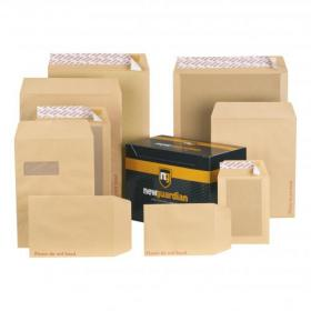 New Guardian Envelopes FSC Hvyweight Board Backed Pocket Window Peel & Seal C4 130gsm Manilla Pack of 125