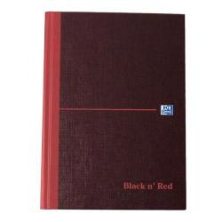 Cheap Stationery Supply of Black n Red Book Casebound 90gsm Single Cash 192pp A5 100080414 Pack of 5 Office Statationery