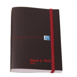 Cheap Stationery Supply of Black n Red (A6) 90g/m2 192 Pages Elasticated Ruled Polynote Casebound Notebook (Pack of 5) 100080416 Office Statationery