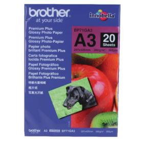 Brother A3 Premium Plus Glossy Photo Paper (Pack of 20) BP71GA3