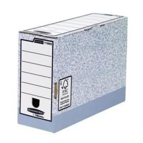 Fellowes Bankers Box Transfer File 120mm Foolscap Grey (Pack of 10) 01805