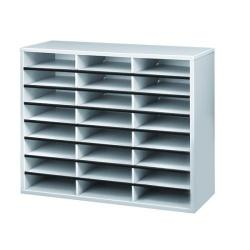 Cheap Stationery Supply of Fellowes 24 Compartment Literature Sorter A4 Dove Grey 25041 Office Statationery