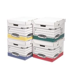 Cheap Stationery Supply of Fellowes Bankers Box Flip Top Cube Assorted Colours - 1 x Pack of 12 Boxes 0039701 Office Statationery