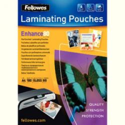 Cheap Stationery Supply of Fellowes Laminating Pouch Punched 228x303mm 80micron Pack of 100 5452501 5452501 Office Statationery