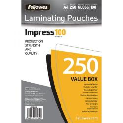 Cheap Stationery Supply of Fellowes Impress 100 Glossy A4 Laminating Pouches Value Pack 5313901 Office Statationery
