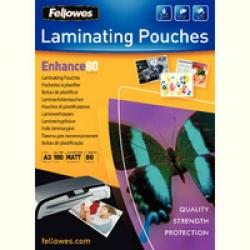 Cheap Stationery Supply of Fellowes A3 80 Micron Matt Laminating Pouch Pack of 100 5452001 Office Statationery