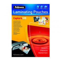 Cheap Stationery Supply of Fellowes Laminating Pouch 54x86mm 250micron Capture Pack of 100 53063 53063 Office Statationery