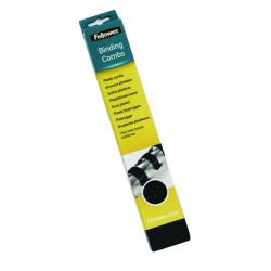 Cheap Stationery Supply of Fellowes A4 Binding Combs 10mm Black (Pack of 100) 5346102 Office Statationery