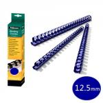 Fellowes 5346303 12mm Blue Plastic Comb