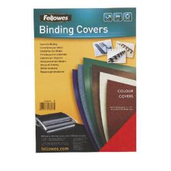 Cheap Stationery Supply of Fellowes 5371503 A4 Leatherboard Covers Dark Green Office Statationery
