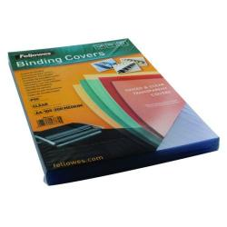 Cheap Stationery Supply of Fellowes Transpsarent Plastic Covers 200 Micron (Pack of 100) 5376101 Office Statationery
