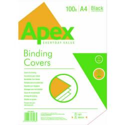Cheap Stationery Supply of Fellowes Apex A4 Leatherboard Covers Black (Pack of 100) 6501001 Office Statationery