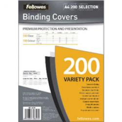 Cheap Stationery Supply of Fellowes Relido Binding Covers Assorted Pack of 200 5377801 5377801 Office Statationery
