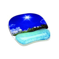 Cheap Stationery Supply of Fellowes Photo Gel Mouse Pad Tropical Beach 9202601 Office Statationery