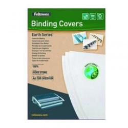 Cheap Stationery Supply of Fellowes Earth Series A4 Binding Cover Stone Pack of 100 5361901 5361901 Office Statationery