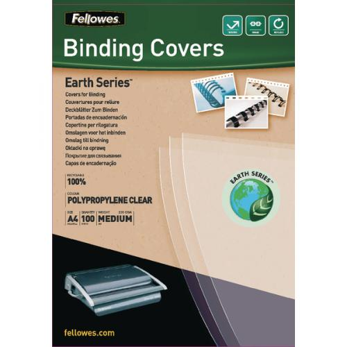 Fellowes Earth Series Polypropylene Clear A4 Binding Cover
