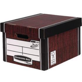 Bankers Box Woodgrain Tall Premium Storage Box (Pack of 10) 7260503