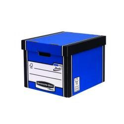Cheap Stationery Supply of Fellowes Bankers Box Premium Presto Storage Box Blue/White (Pack of 12) 7260601 Office Statationery