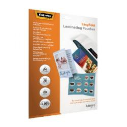 Cheap Stationery Supply of Fellowes Admire EasyFold A4 Laminating Pouches (Pack of 25) 5601901 Office Statationery