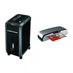 Cheap Stationery Supply of Fellowes Powershred 99Ci Shredder Cross Cut A4 34 Litre DIN3 17 Sheet Black/Grey and Jupiter A3 Laminator Black.Silver with Free of Charge Brother DCP-195C Inkjet Printer BB810402 Office Statationery