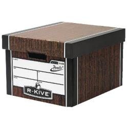 Cheap Stationery Supply of Fellowes Pack 10 Classic Woodgrain Storage Box Plus Free Pack Office Statationery