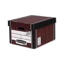 Cheap Stationery Supply of Bankers Box Tall Woodgrain Storage Box Pack of 10 Buy One Get One Free Office Statationery