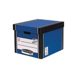 Cheap Stationery Supply of Fellowes Pack 10 Tall Blue Storage Box Plus Free Pack Office Statationery