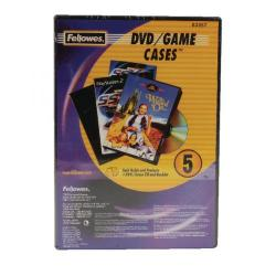 Cheap Stationery Supply of Fellowes Replacement DVD Cases Pack of 5 8335702 Office Statationery