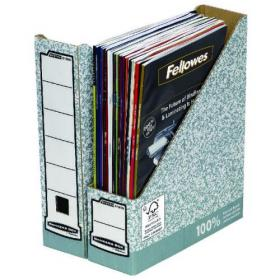 Fellowes Bankers Box Prem Magazine File Grey/White (Pack of 10) 186004