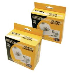 Cheap Stationery Supply of Fellowes CD Envelope White Paper (Pack of 100) 90691 Office Statationery