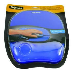 Fellowes Crystals Gel Mouse Pad Blue 9114106
