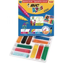 Cheap Stationery Supply of Bic Kids Visa Felt Tip Pens Fine Tip Assorted (Pack of 144) 887838 Office Statationery