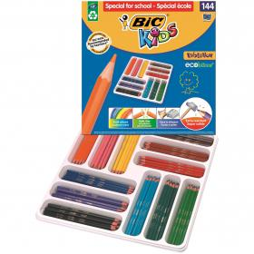 Bic Kids Evolution Ecolutions Pencils Assorted (Pack of 144) 887830