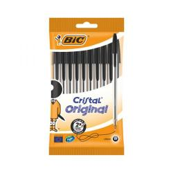 Cheap Stationery Supply of Bic Cristal Ballpoint Pen Medium Black (Pack of 10) 830864 Office Statationery