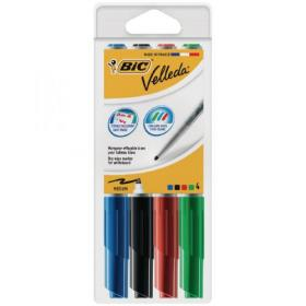 Bic Velleda 1741 Drywipe Marker Assorted (Pack of 4) 1199001744